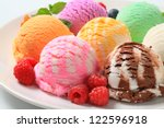 scoops of ice cream   assorted... | Shutterstock . vector #122596918