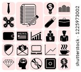 set of 22 business high quality ... | Shutterstock .eps vector #1225973002