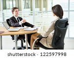 group of happy business people... | Shutterstock . vector #122597998