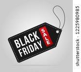 black friday sale tag label... | Shutterstock .eps vector #1225980985