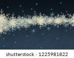2d illustration. snowflakes on... | Shutterstock . vector #1225981822