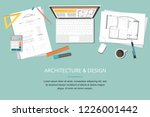 workplace   construction... | Shutterstock .eps vector #1226001442