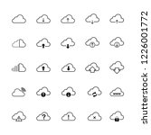 cloud download signage set icon ... | Shutterstock .eps vector #1226001772
