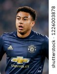 Small photo of Turin, Italy. 07 November 2018. UEFA Champions League, Juventus vs Manchester United 1-2. Jesse Lingard, Manchester United.