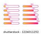 progress loading bar  100   90  ... | Shutterstock .eps vector #1226011252