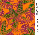 seamless pattern with... | Shutterstock . vector #1226023678