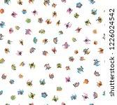 seamless vector pattern. a... | Shutterstock .eps vector #1226024542