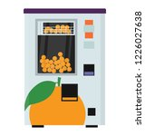 a vending machine with the... | Shutterstock .eps vector #1226027638