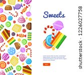 sweets brochure cover. biscuits ... | Shutterstock .eps vector #1226027758