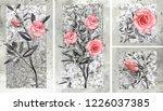 collection of designer oil... | Shutterstock . vector #1226037385