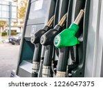 petrol station oil pumps for...   Shutterstock . vector #1226047375