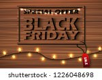 black friday sale banner with... | Shutterstock .eps vector #1226048698