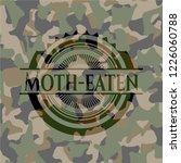 moth eaten on camo pattern | Shutterstock .eps vector #1226060788