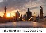 charles bridge in prague at... | Shutterstock . vector #1226066848