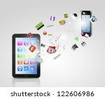 modern communication technology ... | Shutterstock . vector #122606986