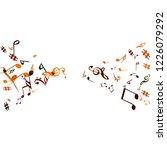 musical signs. modern... | Shutterstock .eps vector #1226079292