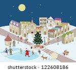 christmas town | Shutterstock .eps vector #122608186