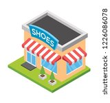 flat icon design of shoes shop ... | Shutterstock .eps vector #1226086078