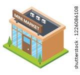 flat icon design of mart   | Shutterstock .eps vector #1226086108