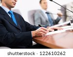 businessman taking notes ... | Shutterstock . vector #122610262