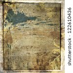 Abstract grunge background with border. - stock photo