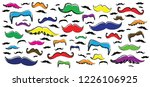 colored retro fake mustaches... | Shutterstock .eps vector #1226106925