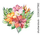flowers illustration with... | Shutterstock . vector #1226107582