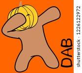 dab dabbing pose pumpkin kid... | Shutterstock .eps vector #1226122972