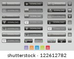set download modern buttons for ... | Shutterstock . vector #122612782