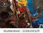 art paints  palette  brushes...   Shutterstock . vector #1226132125