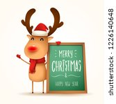 the red nosed reindeer with... | Shutterstock .eps vector #1226140648