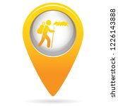 hiking icon illustration... | Shutterstock .eps vector #1226143888