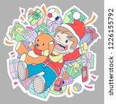 cartoon character of a boy... | Shutterstock .eps vector #1226155792