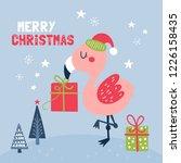 cute flamingo character... | Shutterstock .eps vector #1226158435
