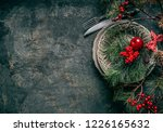 christmas background with... | Shutterstock . vector #1226165632