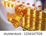 sunflower oil. line for the... | Shutterstock . vector #1226167528