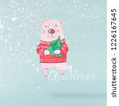 christmas concept.  creative... | Shutterstock . vector #1226167645