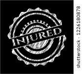 injured written on a blackboard | Shutterstock .eps vector #1226180878