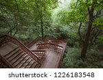 wooden stairs in the park ... | Shutterstock . vector #1226183548