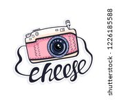 vector illustration with cute... | Shutterstock .eps vector #1226185588
