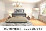 bedroom interior. 3d... | Shutterstock . vector #1226187958