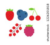 vector set of berries such as... | Shutterstock .eps vector #1226201818
