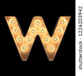 marquee light alphabet w with...   Shutterstock . vector #1226203942