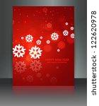 merry christmas red brochure...   Shutterstock .eps vector #122620978
