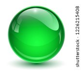 glass ball  green 3d vector... | Shutterstock .eps vector #1226215408