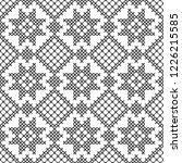 cross stitch  seamless...   Shutterstock .eps vector #1226215585
