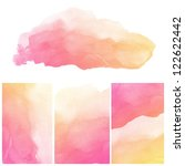 set of colorful abstract water... | Shutterstock . vector #122622442