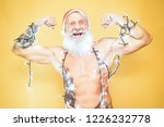 happy fit santa claus equiped...   Shutterstock . vector #1226232778