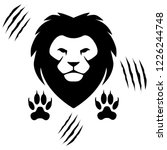 lion head and traces   brave... | Shutterstock .eps vector #1226244748