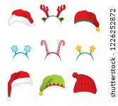 set of headbands and hats for... | Shutterstock . vector #1226252872